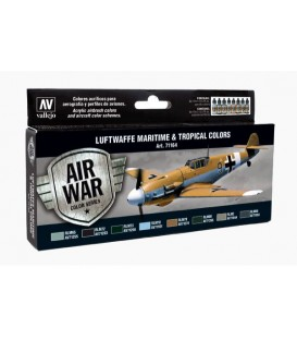 Set Vallejo Model Air 8 u. (17 ml.) Luftwaffe Maritime/Tropical