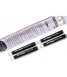 Cartuchos recambio Pentel Pocket Brush FP10 4 Ud.