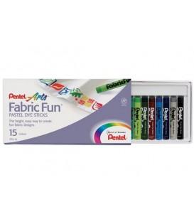 15 u. Pastel sticks Set Pentel Fabric Fun PTS-15