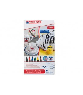 Set 6 retoladors Edding 4200 per porcellana - Colors Basics