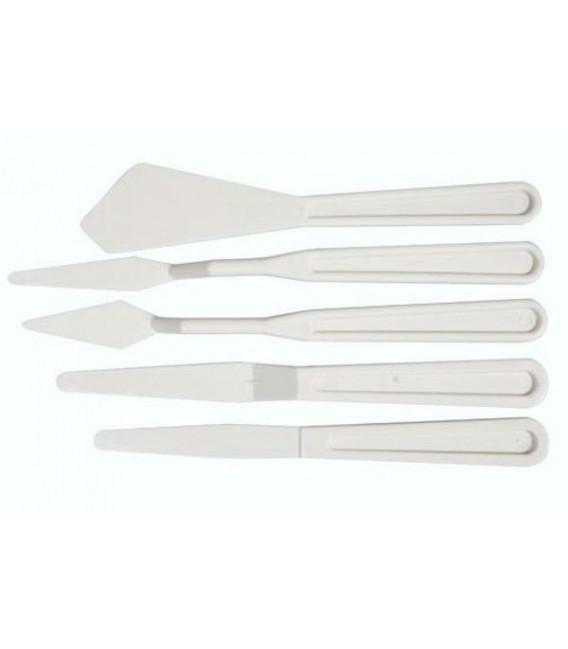5 Pcs. Plastic Painting Knives Set