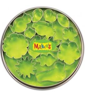 37005 Flores y hojas Set de 15 cortadores Makins