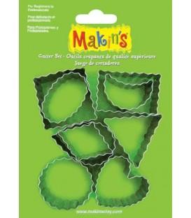 37020 Pasteleria Set de 9 cortadores Makins
