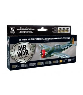 Set Vallejo Model Air 8u. 17 ml. US Army Air Corps ETO WWII