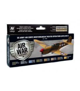 Set Vallejo Model Air 8u. 17 ml. US Army Air Corps MTO WWII