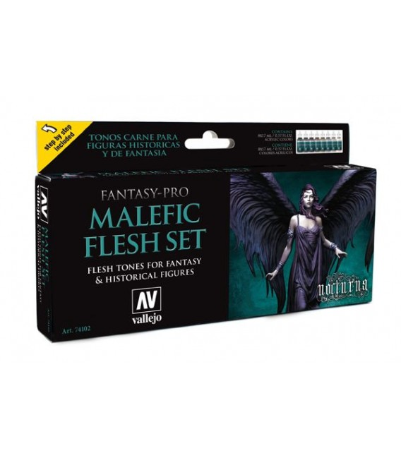 Set Vallejo Fantasy-Pro 8 u. 17 ml. Malefic Flesh Set