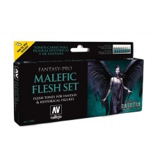 Set Vallejo Fantasy-Pro 8 u. 17 ml. Malefic Flesh Set