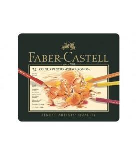 b) Astuccio metallo 24 matite Polychromos Faber-Castell