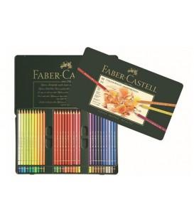 d) Astuccio metallo 60 matite Polychromos Faber-Castell