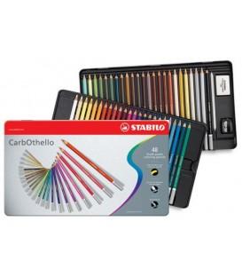 d) Caixa metall 48 llapis Pastel STABILO CarbOthello