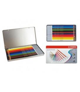 a) STABILO CarbOthello 12 Pastel Pencils Metal Box