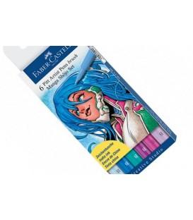 Manga PITT Shojo Faber Castell 6 Marker Pens Set