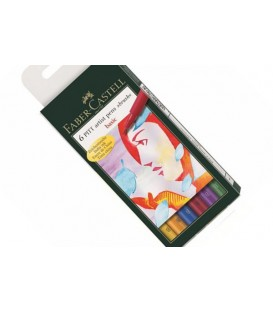 Basics Faber Castell 6 Marker Pens Set