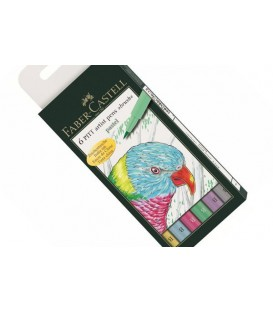 Set 6 rotuladors PITT Pastel Faber Castell
