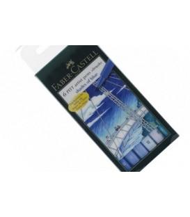 Set 6 pennarelli PITT Ombre di Blu Faber Castell