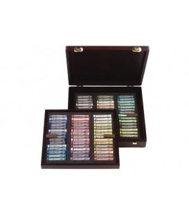 Caixa fusta 90 pastels sencers Rembrandt Proffessional 90L