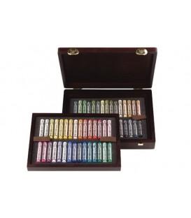 Caixa fusta 60 pastels sencers Rembrandt Luxe 60L