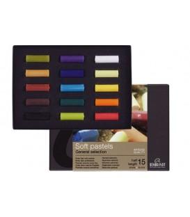 Estuche carton 15 medios pasteles Rembrandt 300C15.5