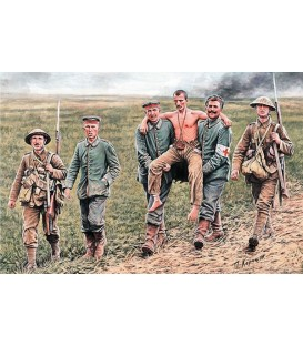 Soldats britanics i alemanys, Batalla del Somme, 1.916 - 35.158