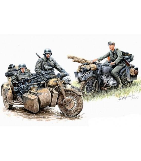 Kradschutzen: German Motorcycle Troops on the Move - 3548F