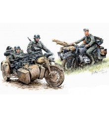 Kradschutzen: German Motorcycle Troops on the Move - 3548F