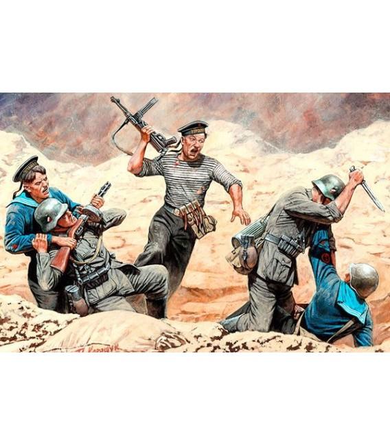 Soviet Marines & German Infantry.Hand-to-Hand Combat. - 35152