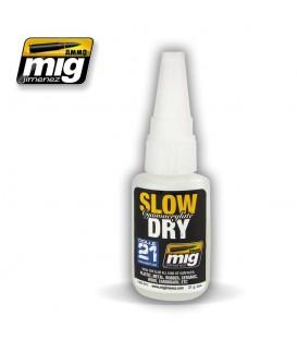 Adhesivo para modelismo SLOW DRY CYANOACRYLATE AMMO MIG-8013