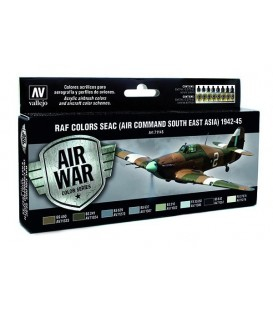Set Vallejo Model Air 8u. 17 ml. RAF Colors SEAC 1942-1945