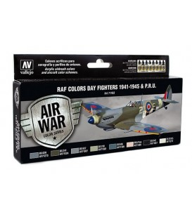 Set Vallejo Model Air 8u. 17 ml. RAF Colors Day Fighters 1941-45