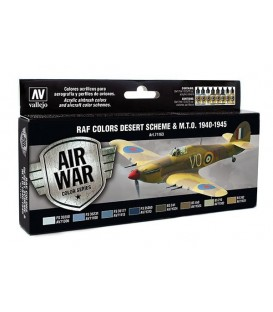 Set Vallejo Model Air 8u. 17 ml. RAF Colors Desert Scheme & MTO