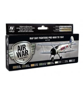 Set Vallejo Model Air 8u.17 ml. RAF Day Fighters Pre-War to 1941