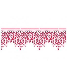 Plantilles - Stencils 38x15 Lace KSB158