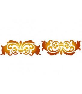 Plantilles - Stencils 60x7 Antique Whirls KSE123
