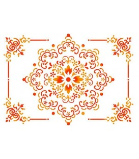 Plantillas - Stencils 21x29,7 Lace and frame KSG228