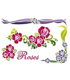 Stencils 21x29,7 Roses KSG277