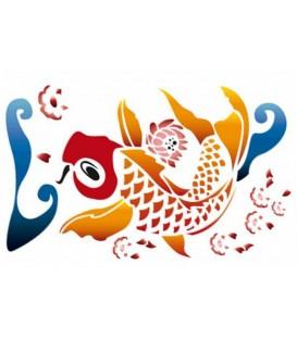 Plantillas - Stencils 21x29,7 Carp fish KSG279