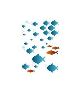 Plantillas - Stencils 21x29,7 Fishes under water KSG282