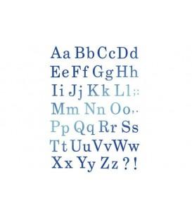 Stencils 21x29,7 Alphabet various font KSG327