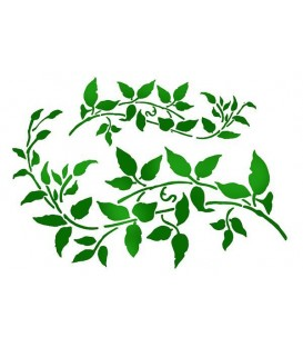 Plantilles - Stencils 21x29,7 Branch with leaves KSG345
