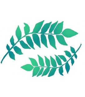 Plantilles - Stencils 21x29,7 Branches with leaves KSG349