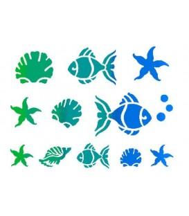 Plantilles - Stencils 15x20 Little fishes KSD04