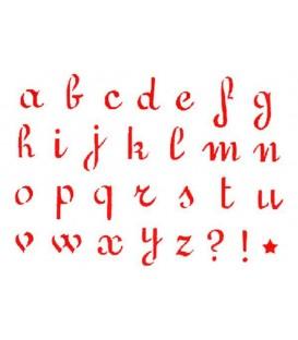 Plantilles - Stencils 15x20 Small letters KSD26