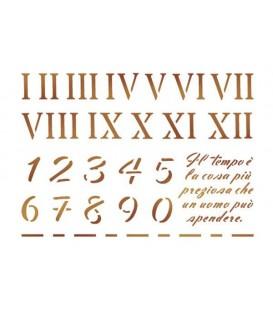 Plantilles - Stencils 15x20 Arabic and Roman numbers KSD114
