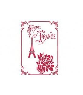 Plantilles - Stencils 15x20 Voyage en France KSD174