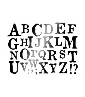 Plantilles - Stencils 15x20 Alphabet KSD253