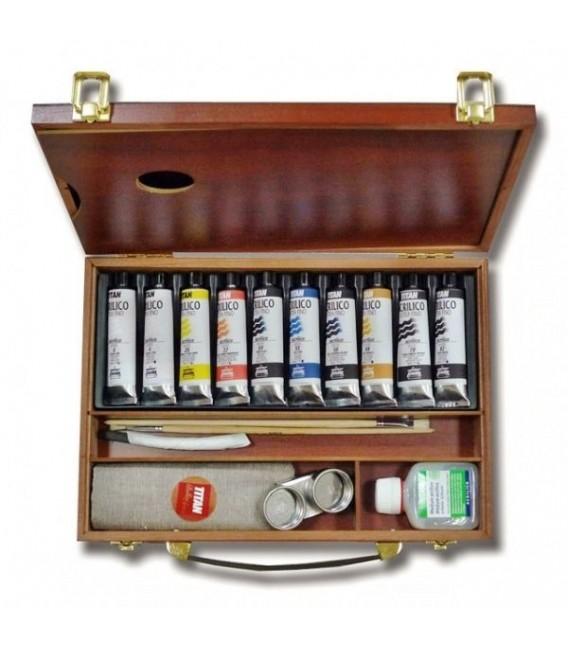 Acrylic paint color set Titan wood 10 tubes 40 ml
