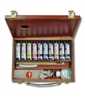 Scatola pittura acrilica Titan legno 10 tubi 40 ml