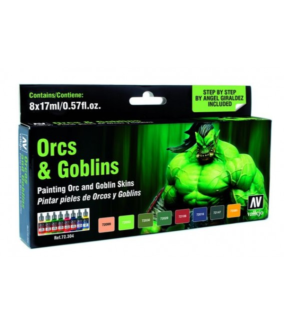 Set Vallejo Game Color 8 u. (17 ml.) Orcs i Goblins. Pells. NEW