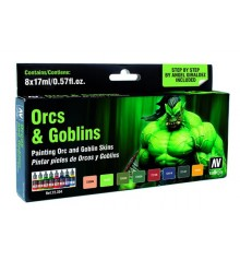 Set Vallejo Game Color 8 u. (17 ml.) Orcs i Goblins. Pells. NEW
