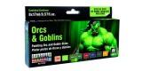Set Vallejo Game Color 8 u.(17 ml.) Orcos y Goblins. Pieles. NEW